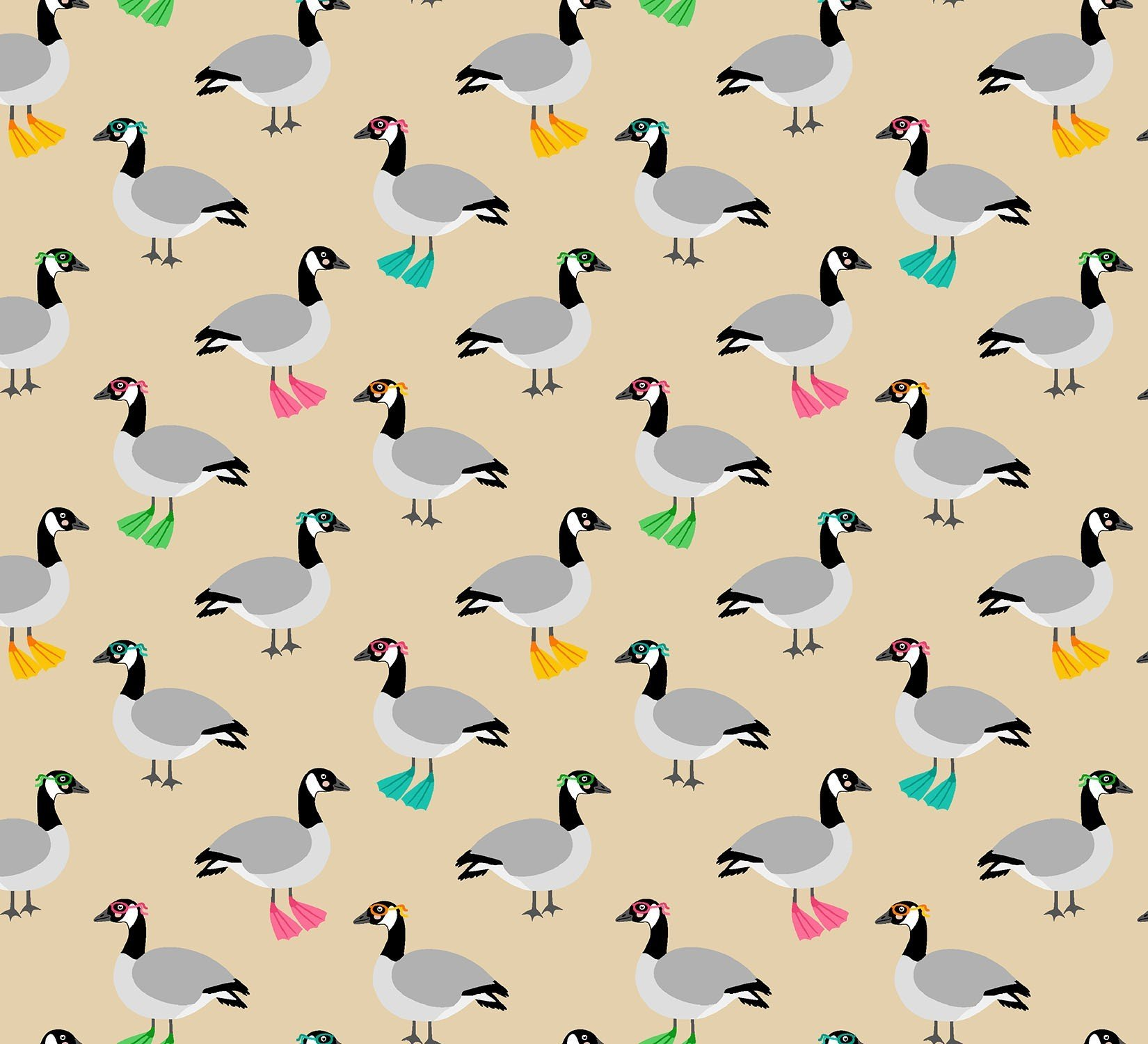 Purely Cdn Eh! - Geese - Timeless Treasures - 100% Cotton