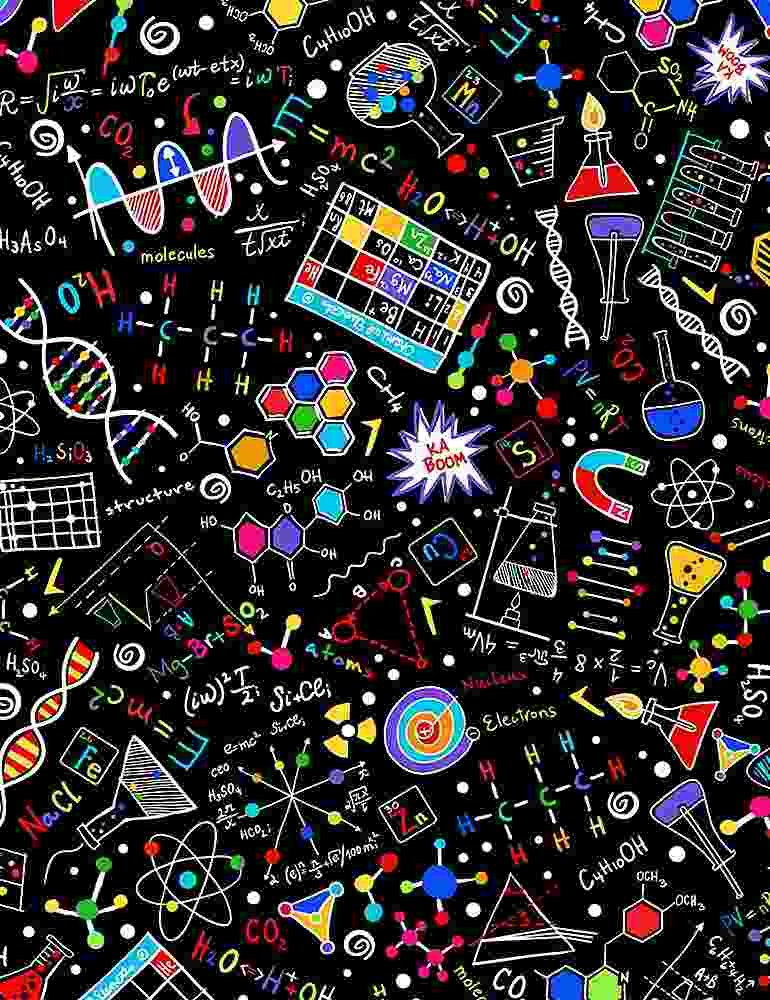 Math & Science Doodles - Timeless Treasures - 100% Cotton