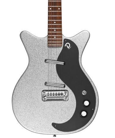 Danelectro '59M NOS+ Electric Guitar Silver Metal Flake