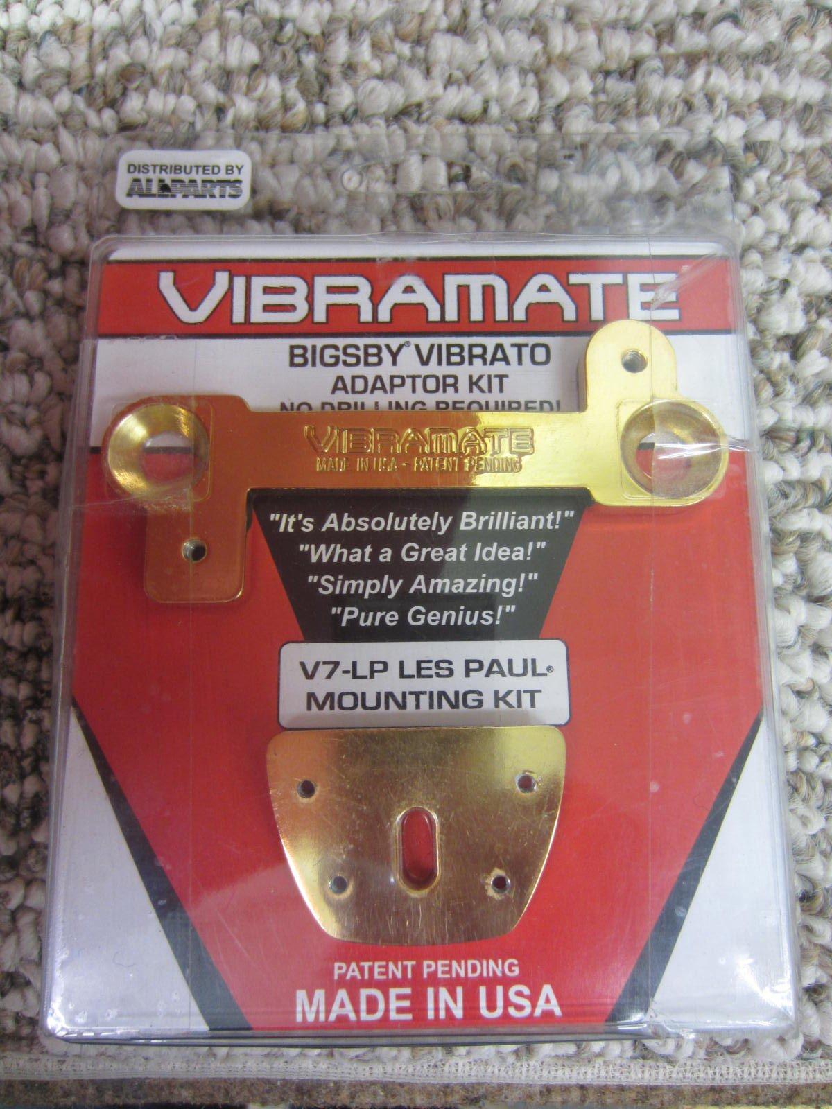 NOS All Parts Vibramate V7-LP Gold Bigsby Vibrato Mounting Kit for Les Paul TP 3770-002