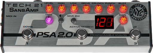 Tech 21 PSA 2.0 Programmable Instrument Preamp Pedal