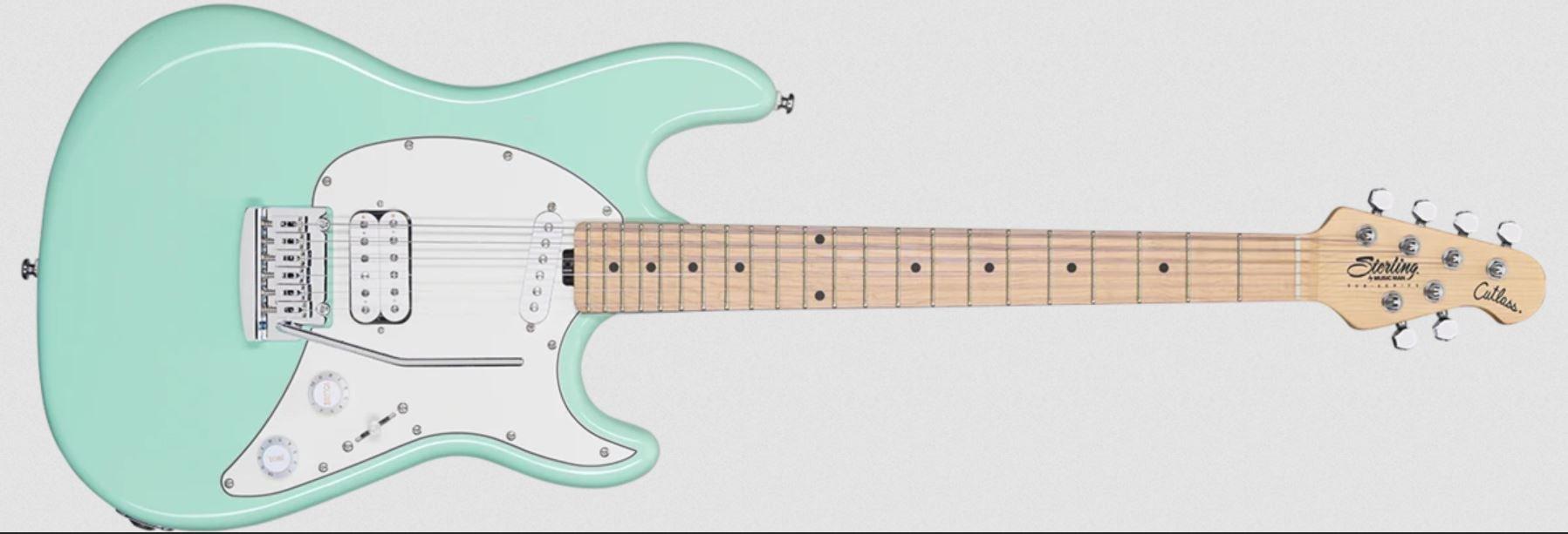 Sterling by Music Man Cutlass Short Scale Mint Green