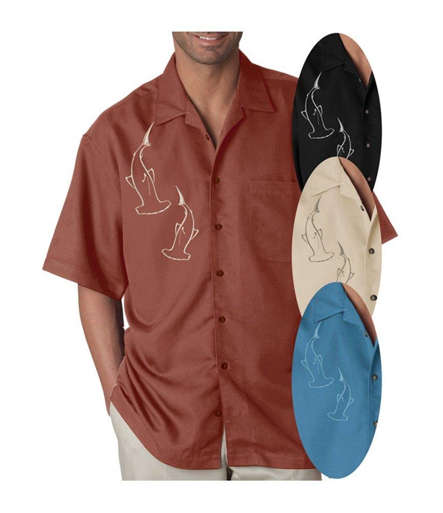 Bottom Crawlers  Double Hammerhead Dress Shirt 3X-Large Black FBA