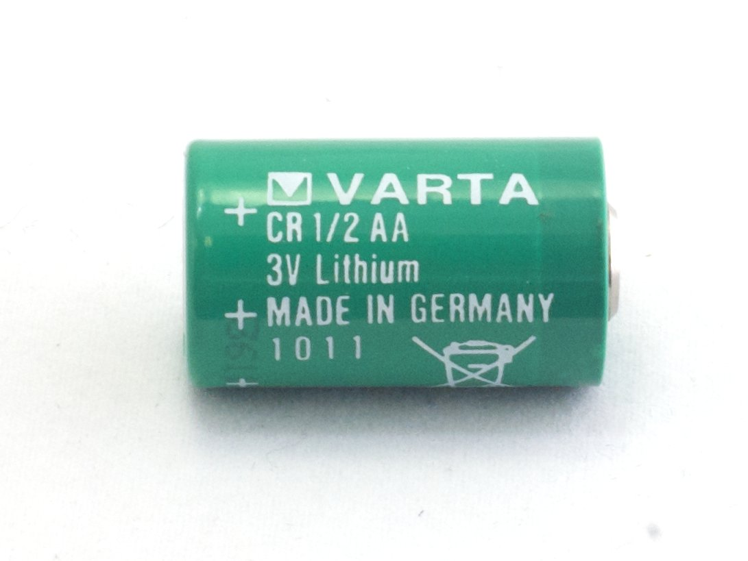 3volt Lithium Battery 3V 1/2 AA Green