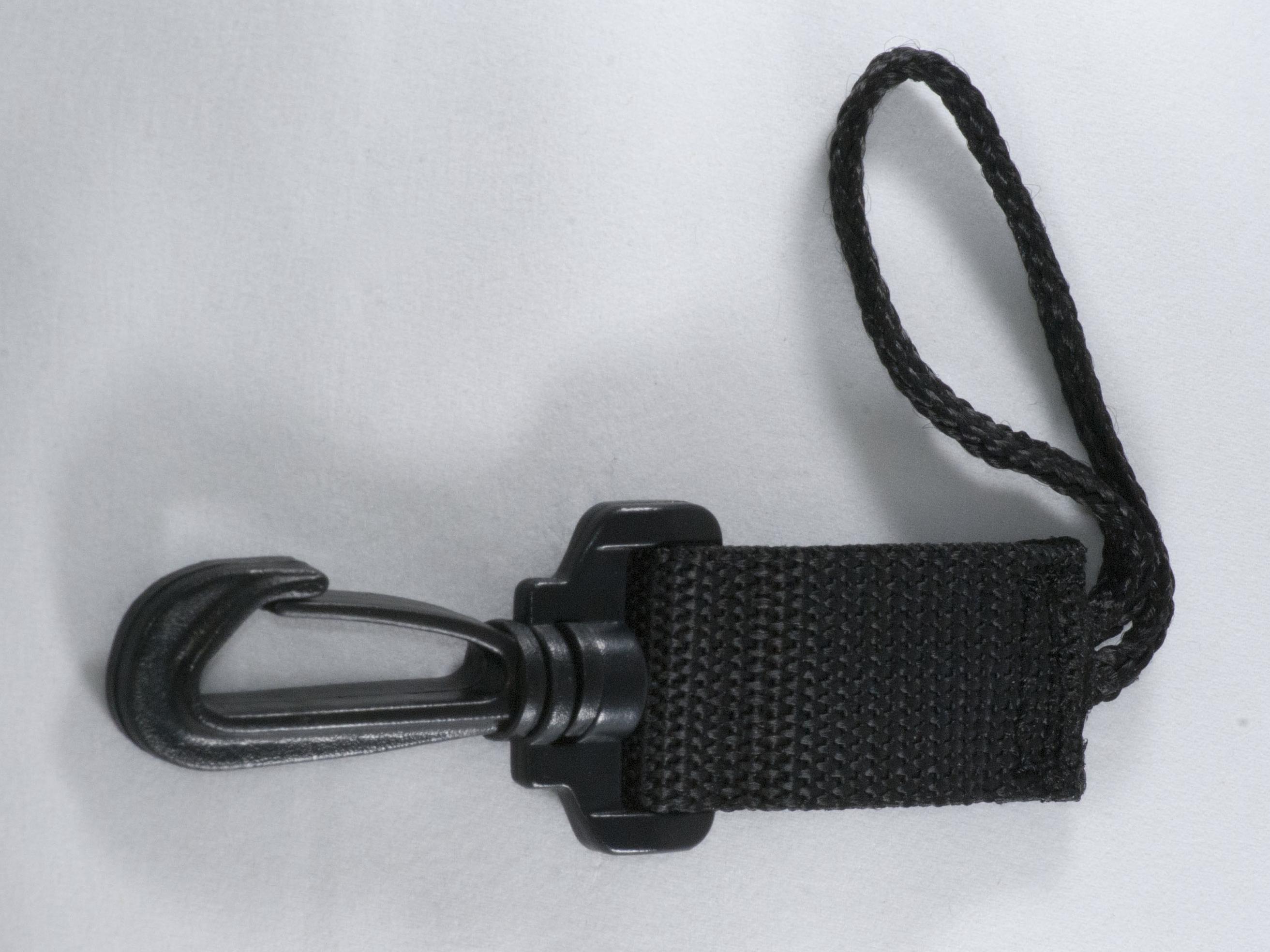 Clip & Loop End Lanyard Black
