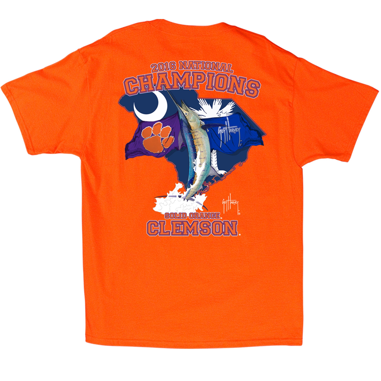 Guy Harvey  National Champ Clemson Shirt 2X-Large Orange