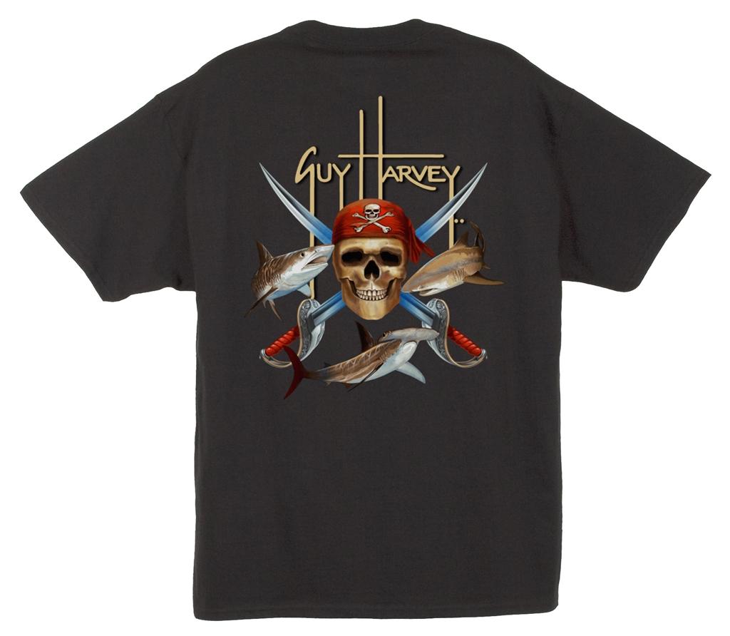 Guy Harvey Pirate Shark Short Sleeve Shirt