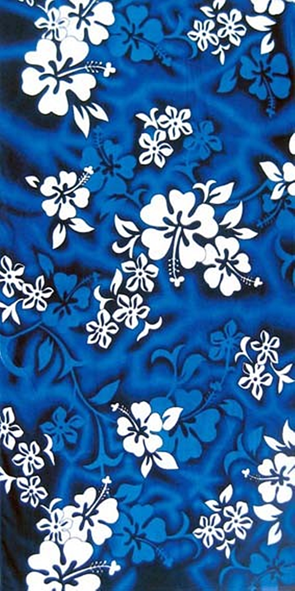 Island Gear Llc Hawaiian Flowers Towel 30x60 Bluewhite 689020397415