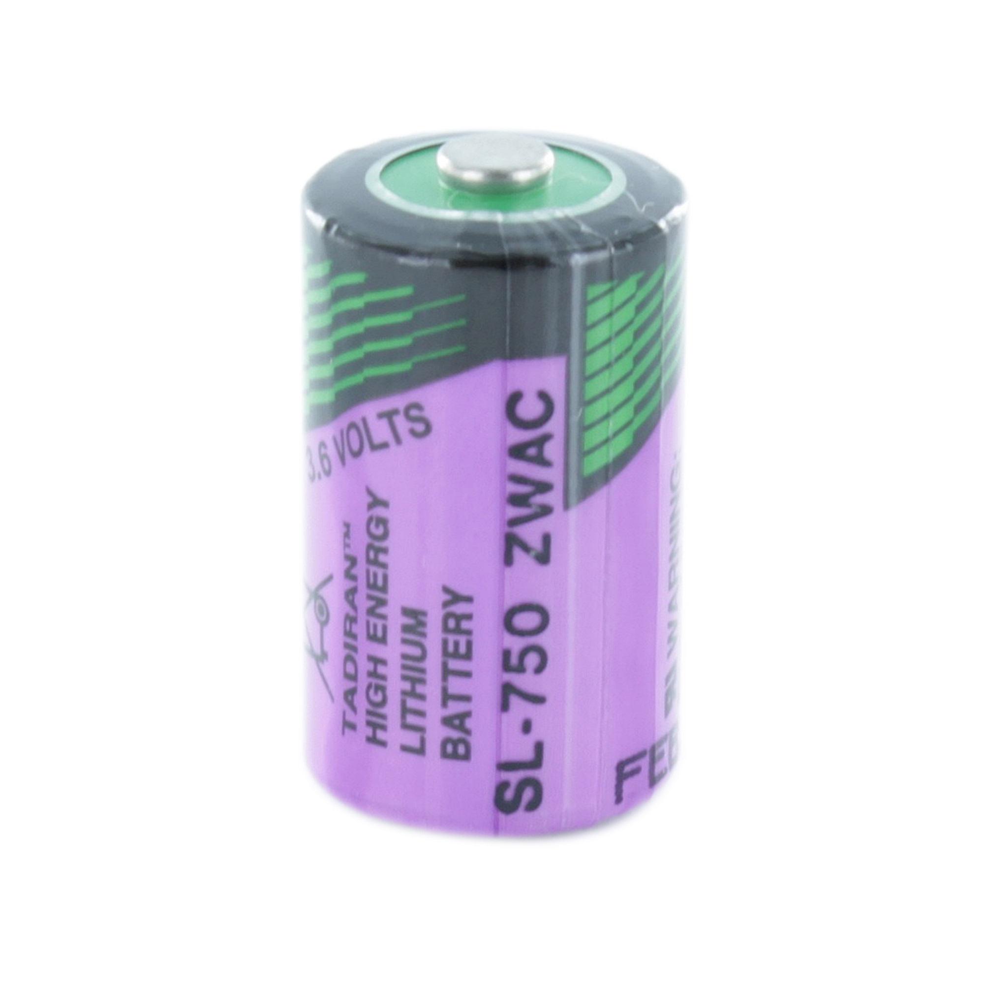 Lithium AA Purple 3v Battery White