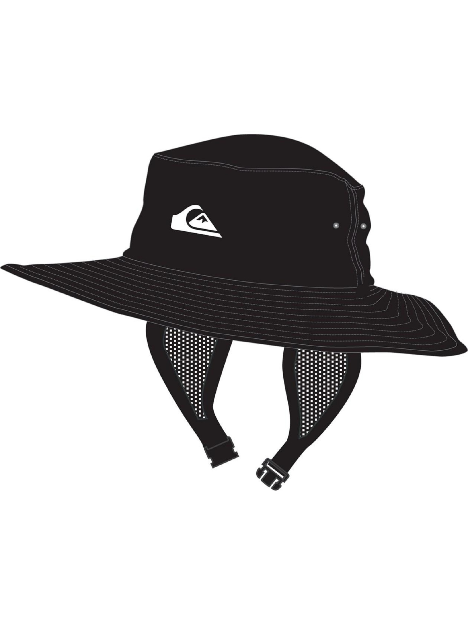 Quiksilver Bushmaster Surf Hat L XL Black - 889351875259 650d99536bd