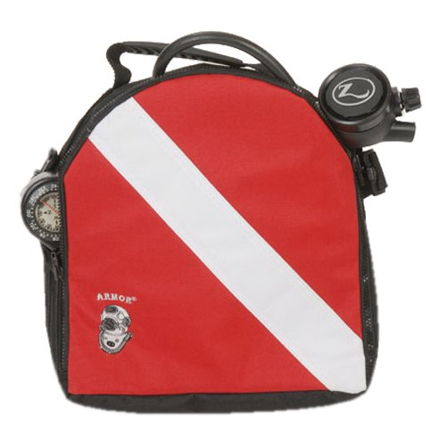 Armor Bags Dive Flag Regulator Large Bag 12 x 12 Red/Black