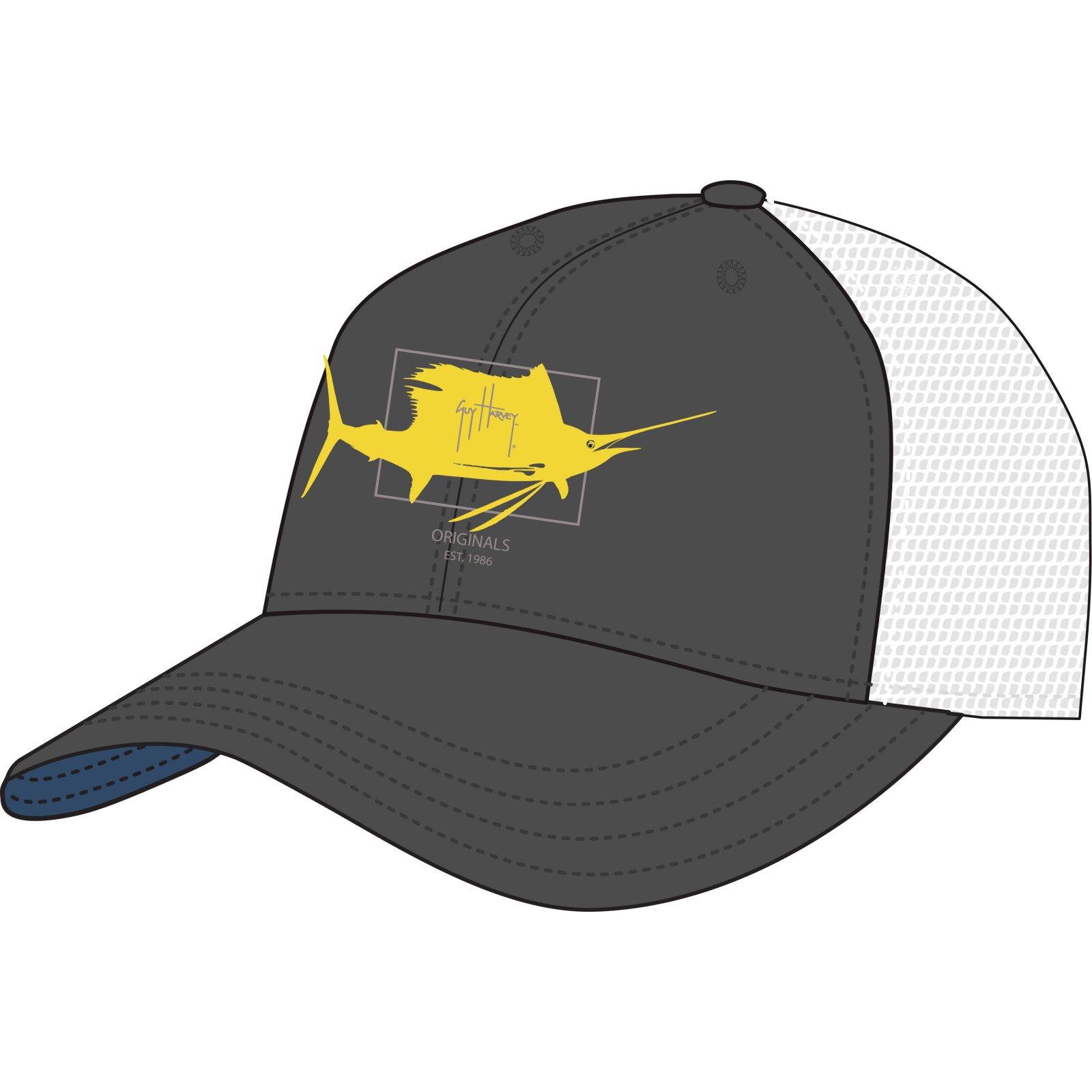 671a8b7d5eca6 Guy Harvey Logo Hat Charcoal