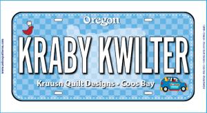 Fabric License Plate 2019 - Kraby Kwilter