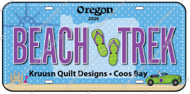 Fabric License Plate  - 2020 Beach Trek