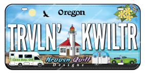 Fabric License Plate  - 2020 Trvln' Kwiltr