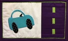 Free Mug Rug Racer Pattern with Newsletter Signup