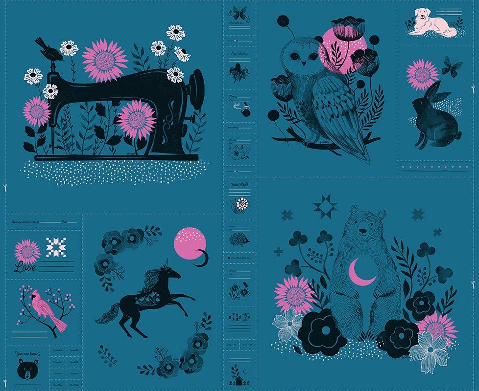 Crescent Panel Quilt Kit - Prussian Blue