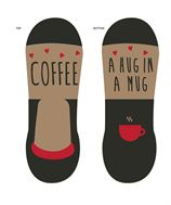 Women's No Show Footlet Sock, Coffee