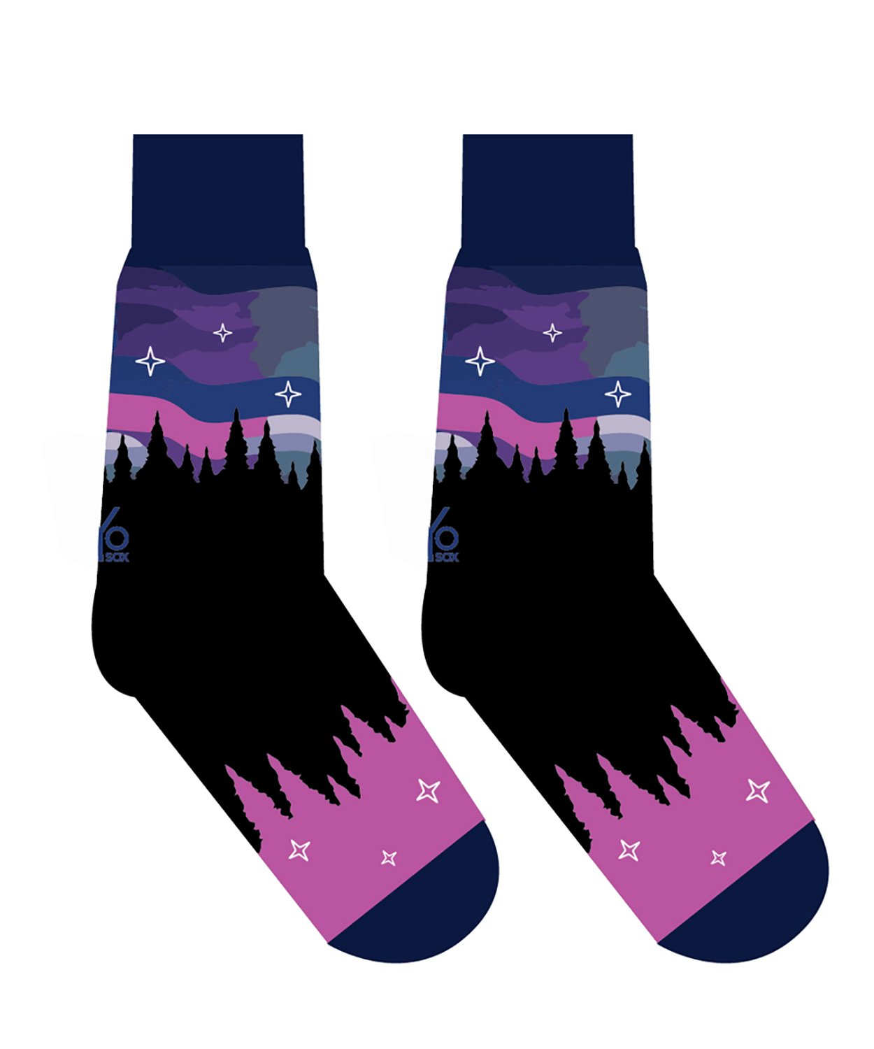 Womens Crew Sock - Northern LIghts
