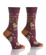 Womens Crew Sock - Drinking Buddies