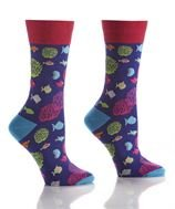 Womens Crew Sock - Go Fish