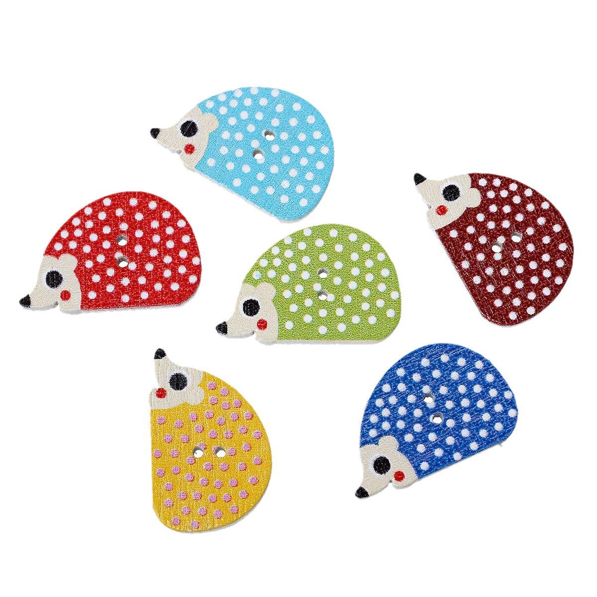 Hedgehog Wood Buttons