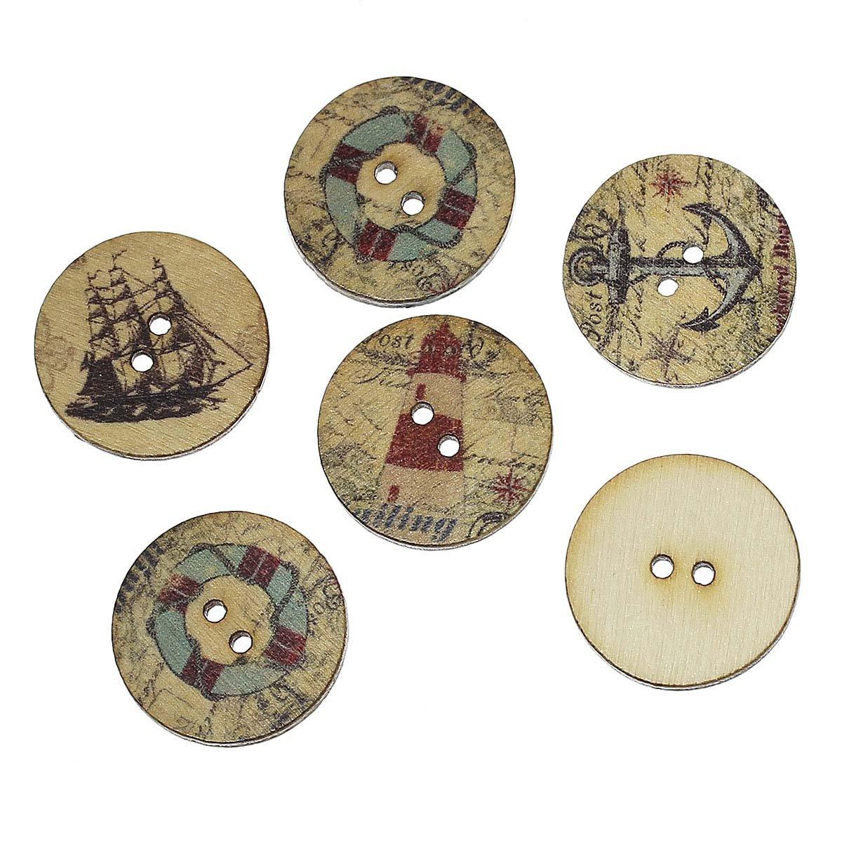 Navigation wood buttons 3/4