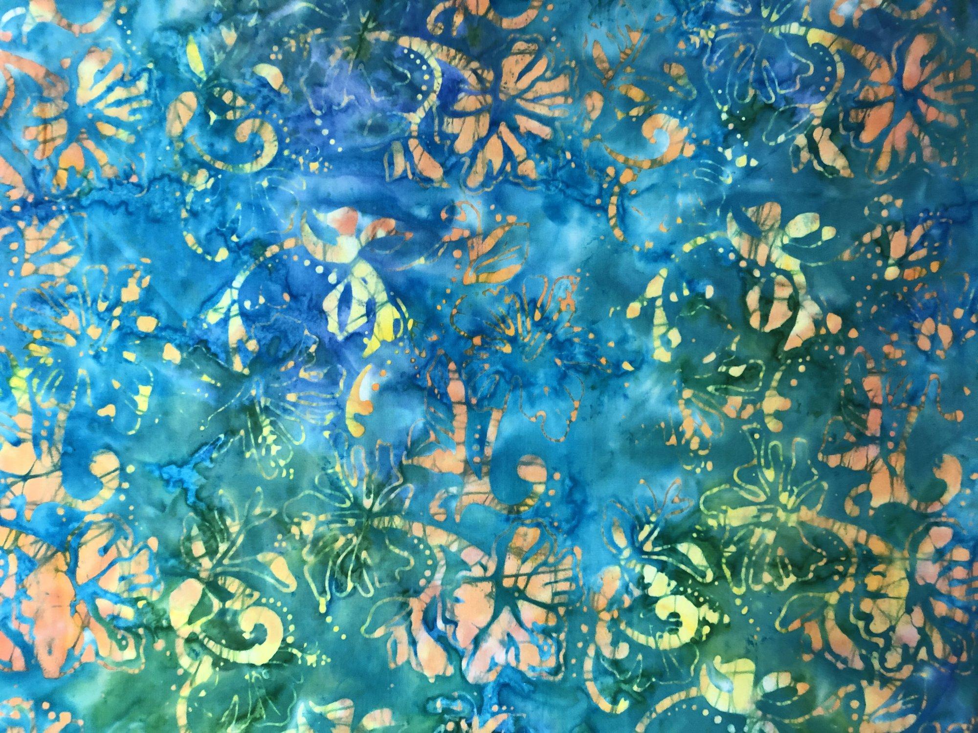 Batik - Blue Flowers