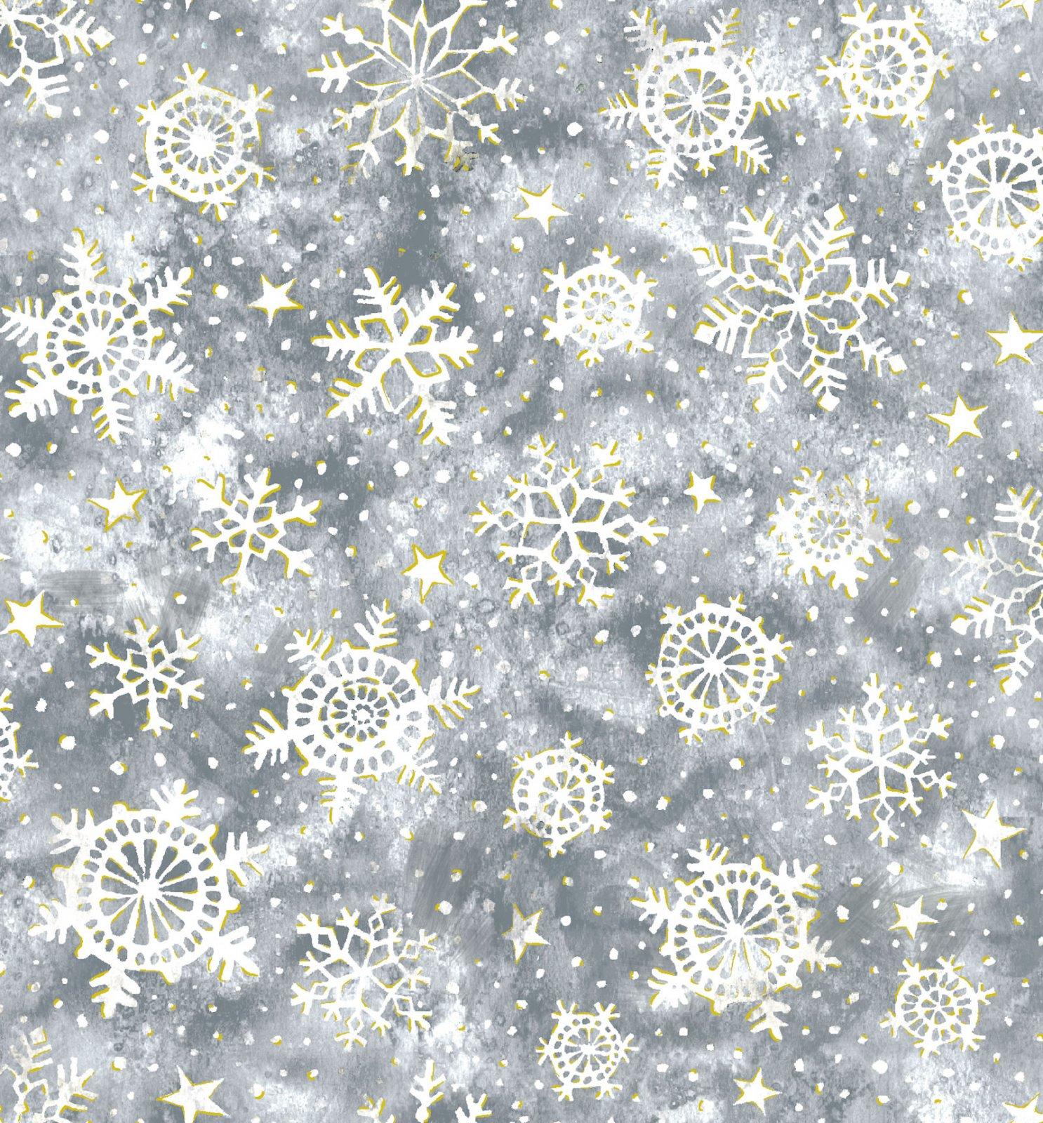 Noel Snowflakes - Gray