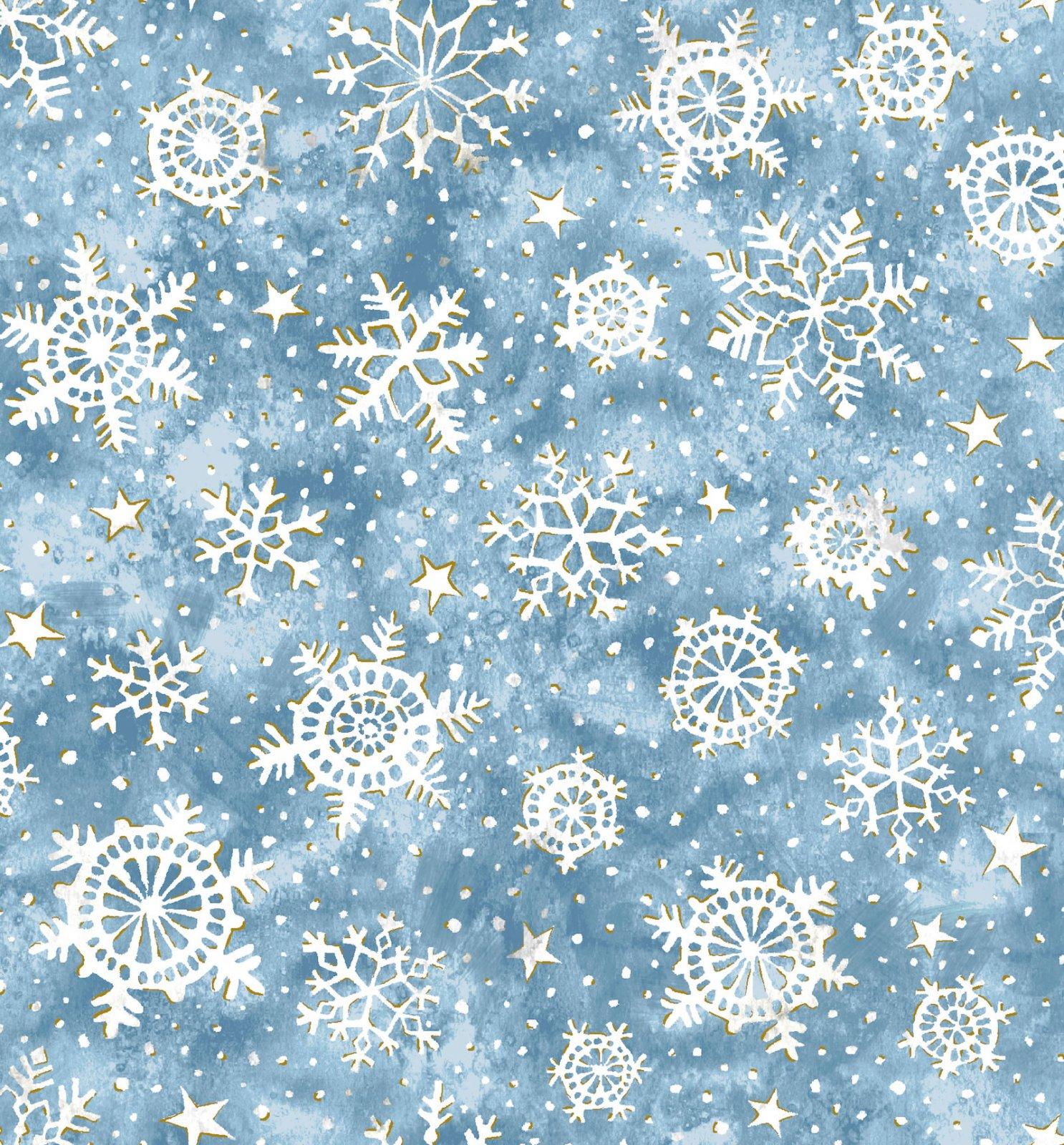 Noel Snowflakes - Blue