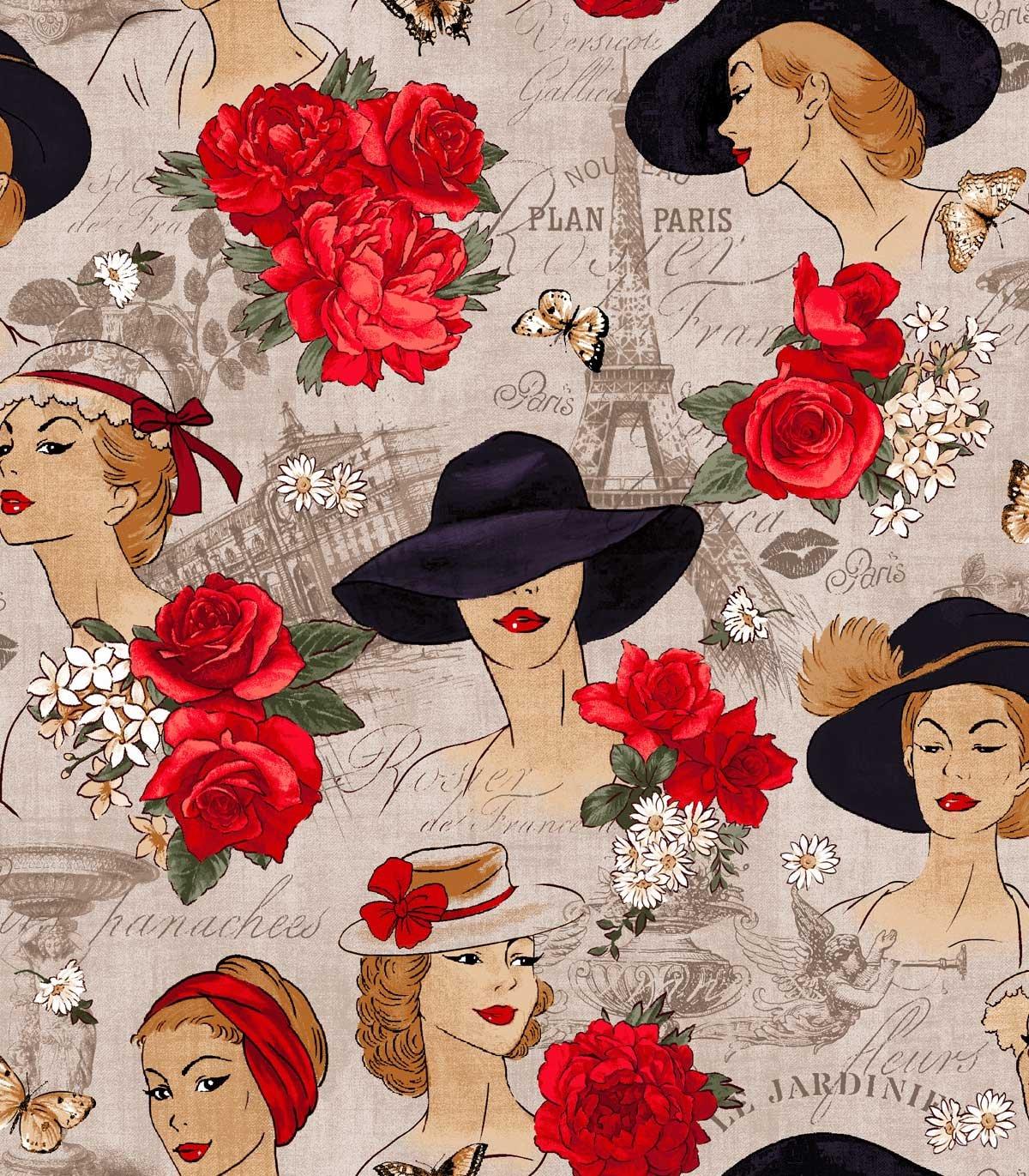 Paris Ladies in Hats - Taupe