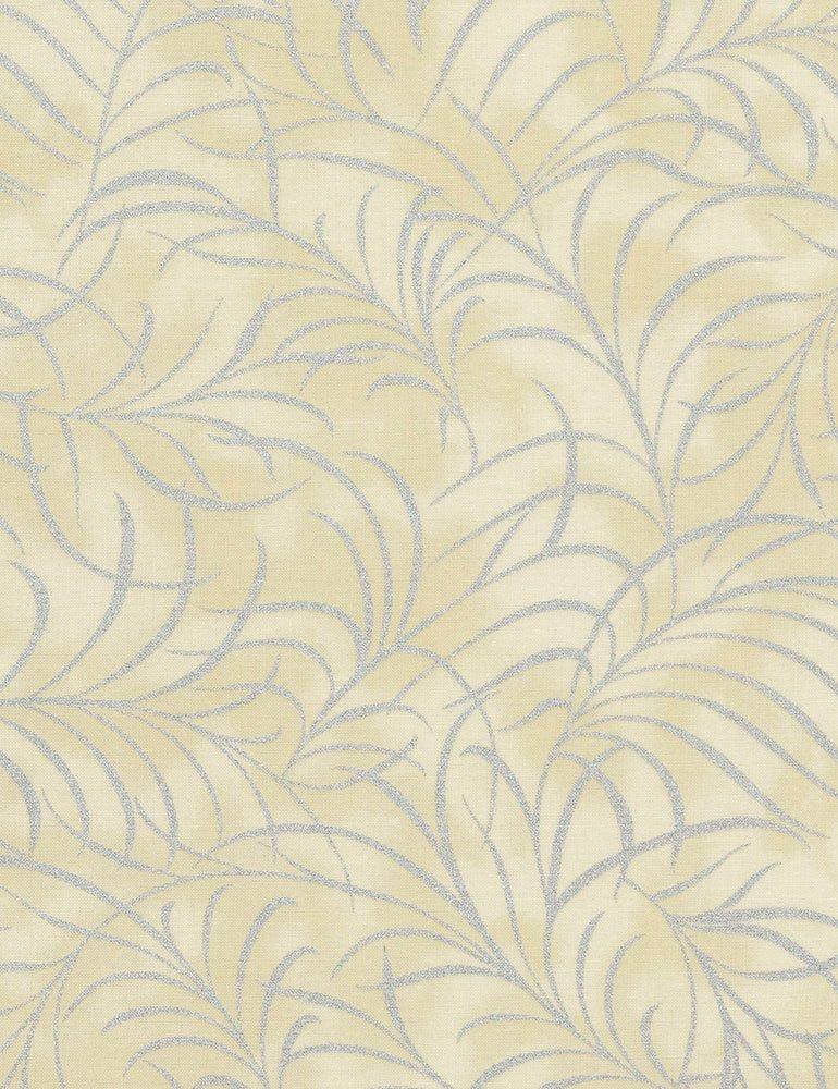 Plume Metallic Leaves - Sand
