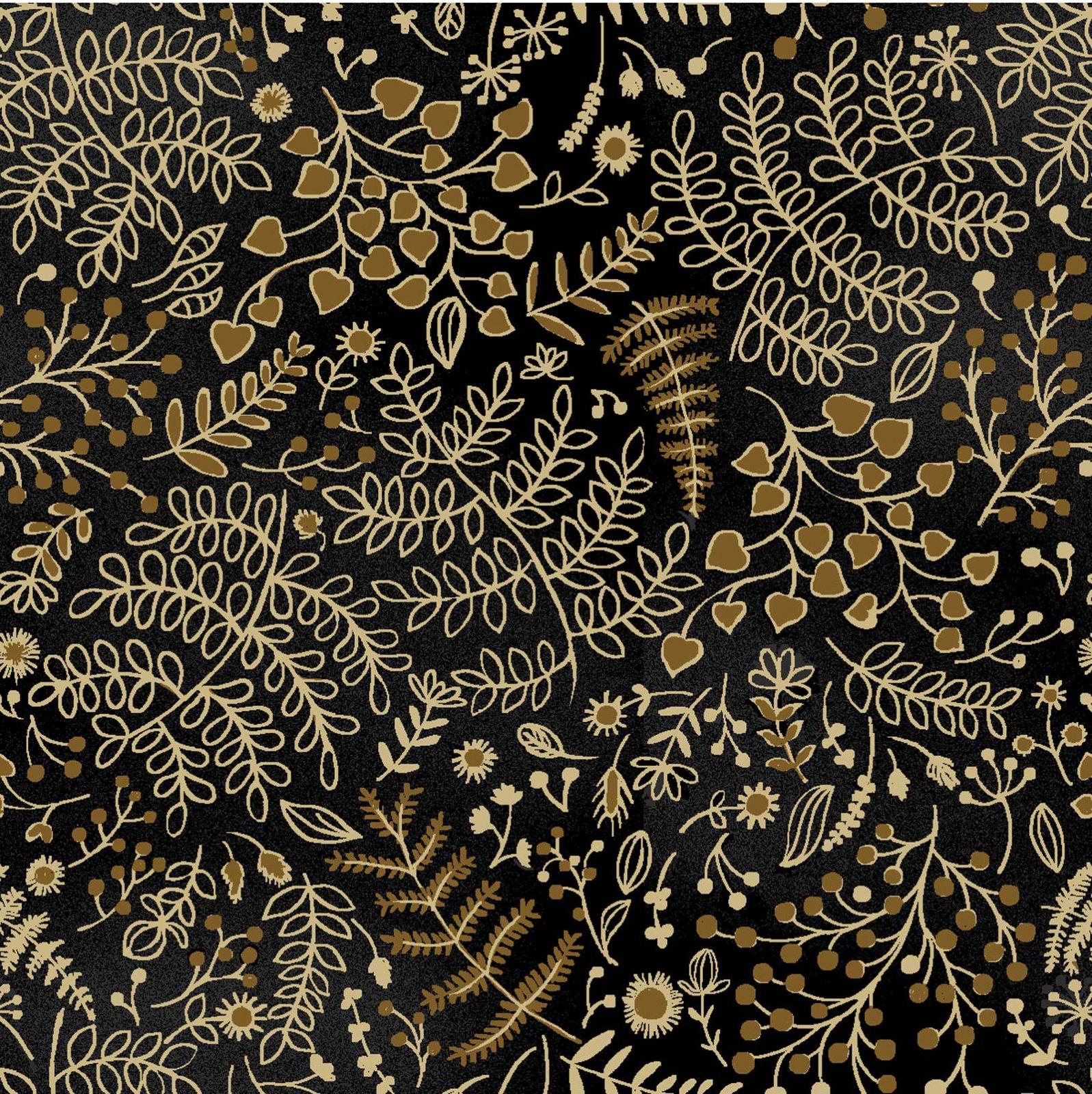Romance - Gold Metallic Fern