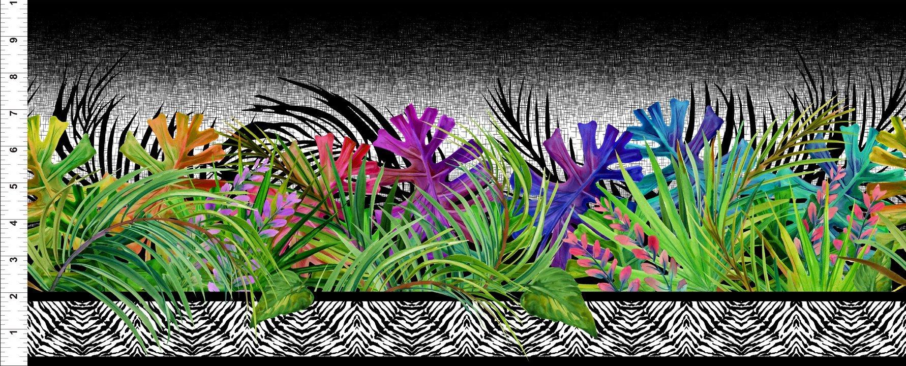 Safari Border Stripe-Multi