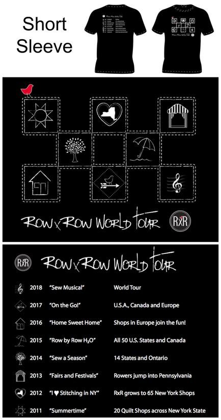 Row by Row World Tour Short Sleeve T