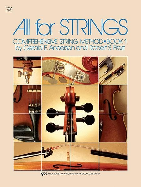 All for Strings Comprehensive String Method Book 1 for Viola