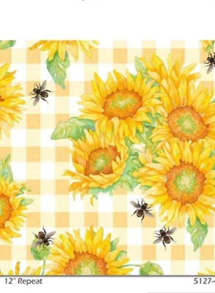 Bee Sweet Yellow Plaid Sunflowers