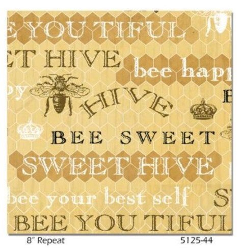 Bee Sweet Gold Word Print