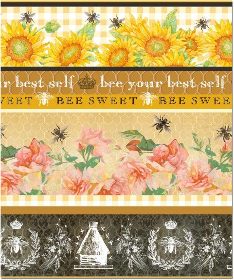 bee sweet border stripe