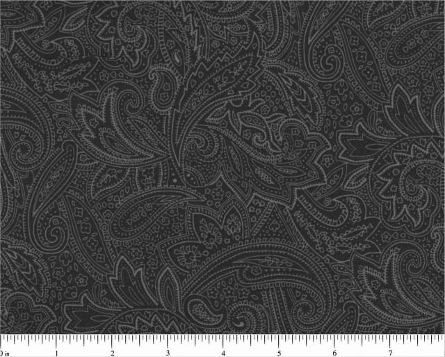 108 Gray Paisley Backing