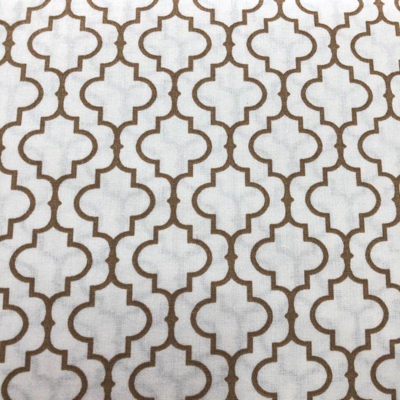 108 Wide Backing White/Tan Pattern