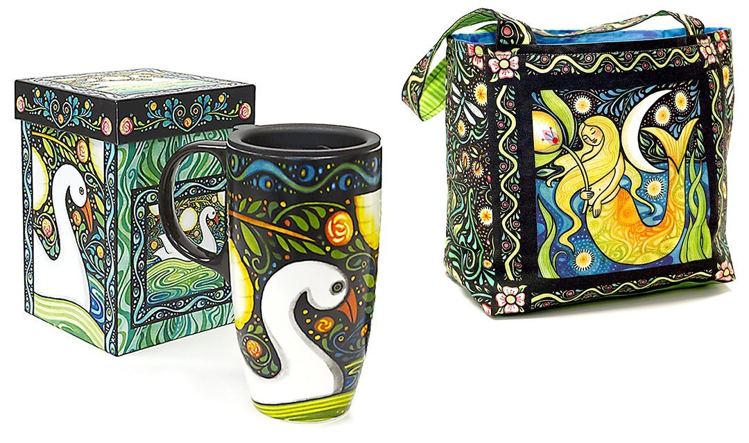 Oceanica Travel Coffee Mug and Lunch Bag Panel