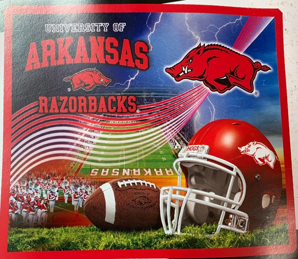 Arkansas Razorback Fleece Blanket 48x60