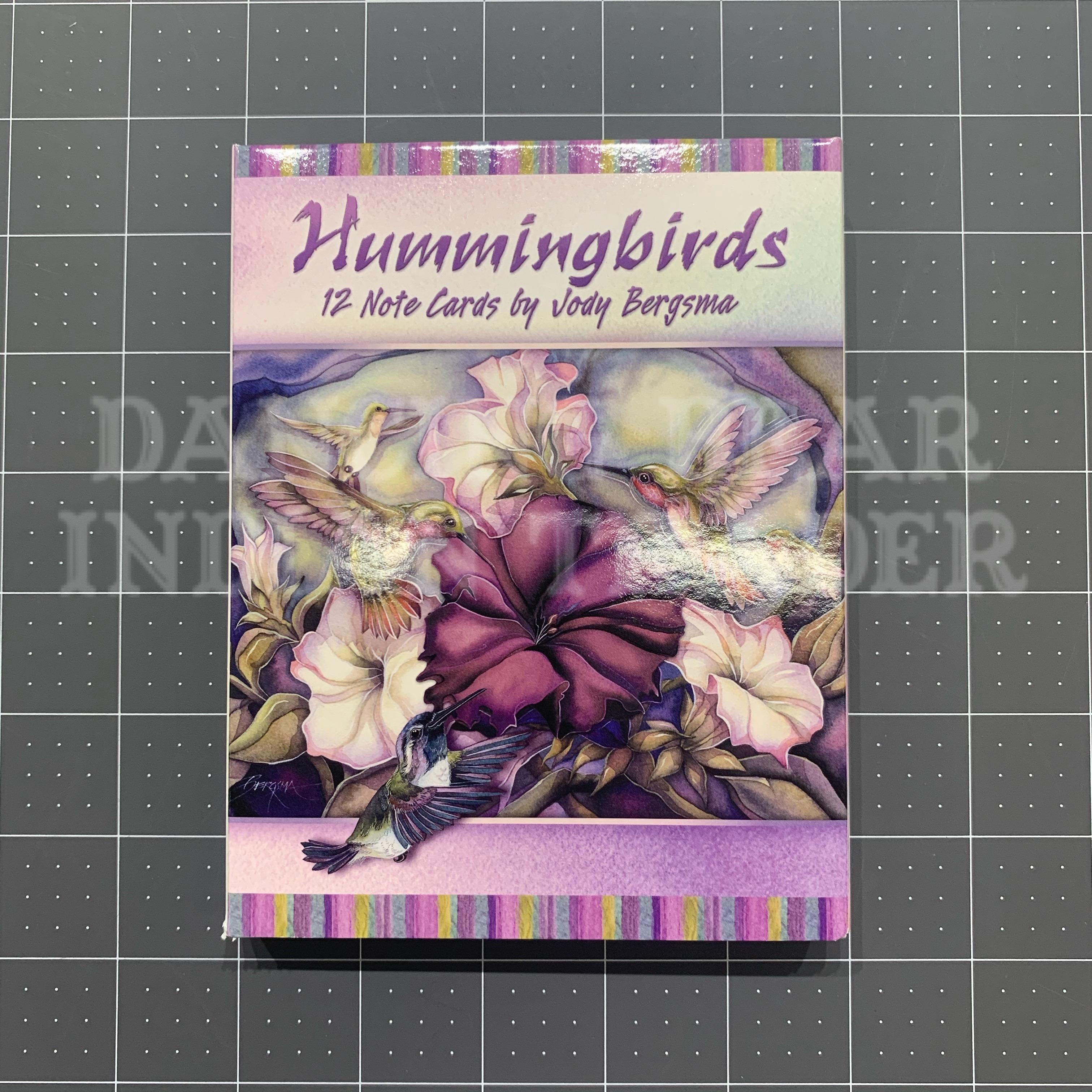 Hummingbirds Note Cards by Jody Bergsma