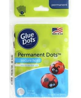 Glue Dots Permanent 1/2 60 pack