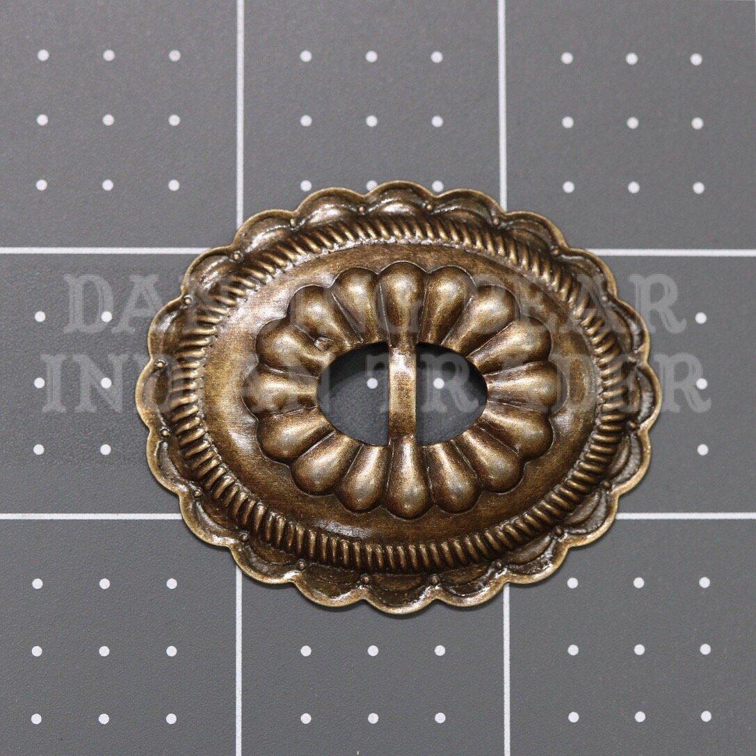 Concho Oval Sun Antique Gold, 6pcs