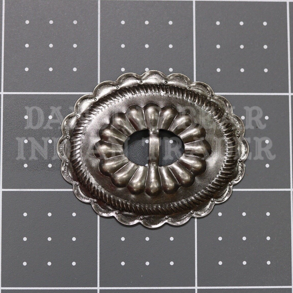 Concho Oval Sun Antique Nickel, 4pc