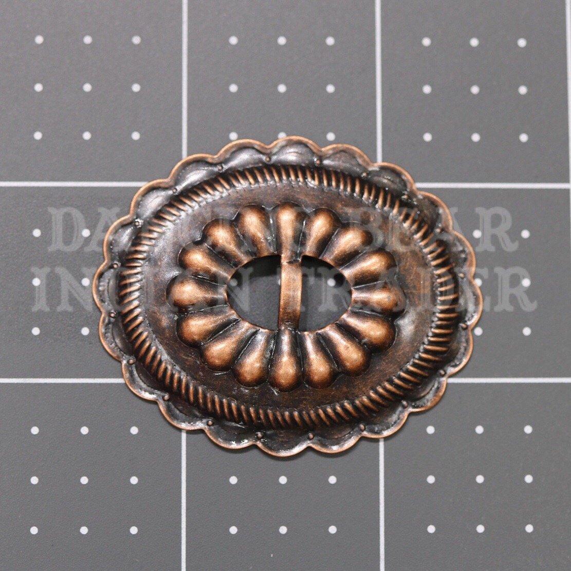 Concho Oval Sun Antique Copper, 6pc