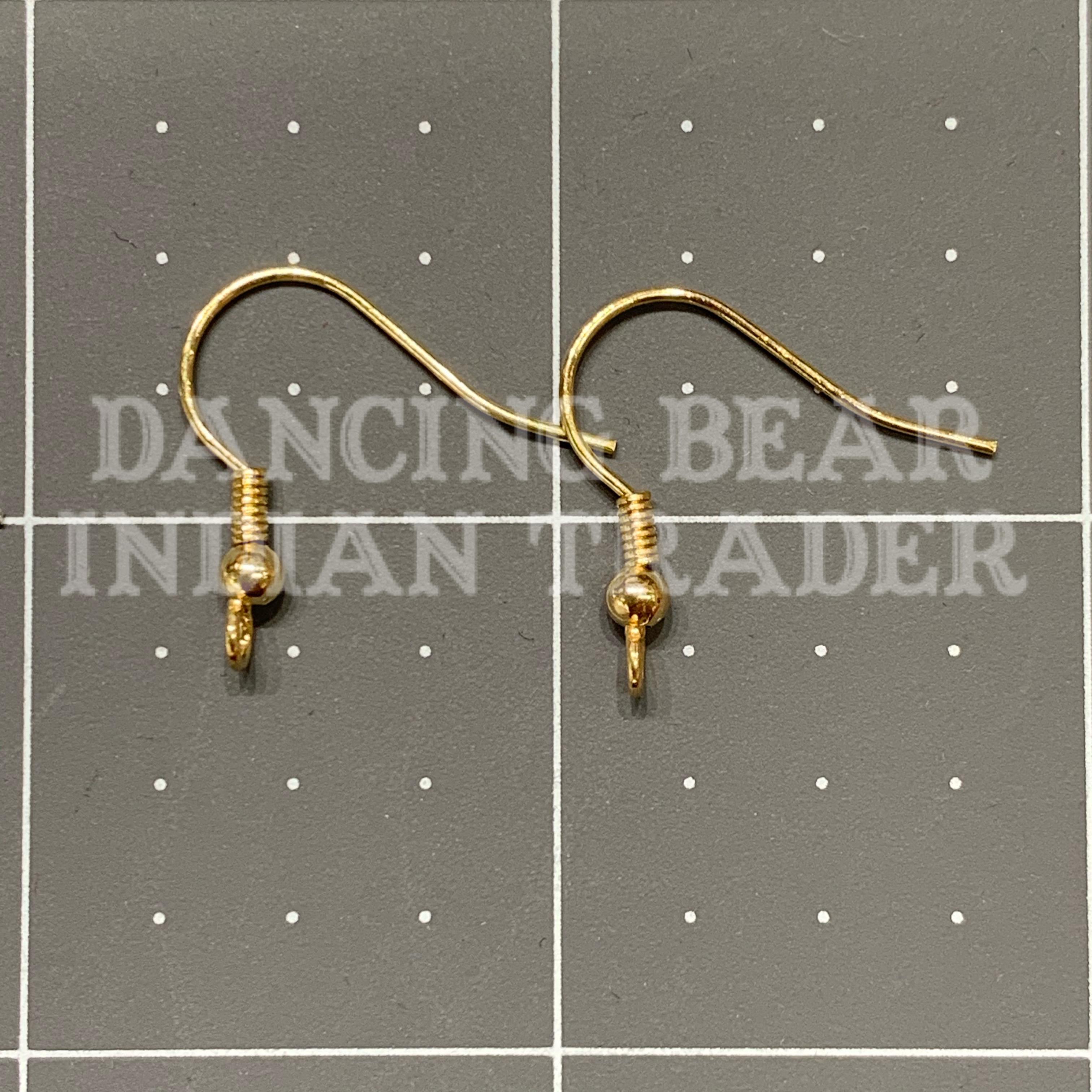 EW-G-144 Gold Earwire 144 pc, Hypo Allergenic-BULK DISCOUNTED