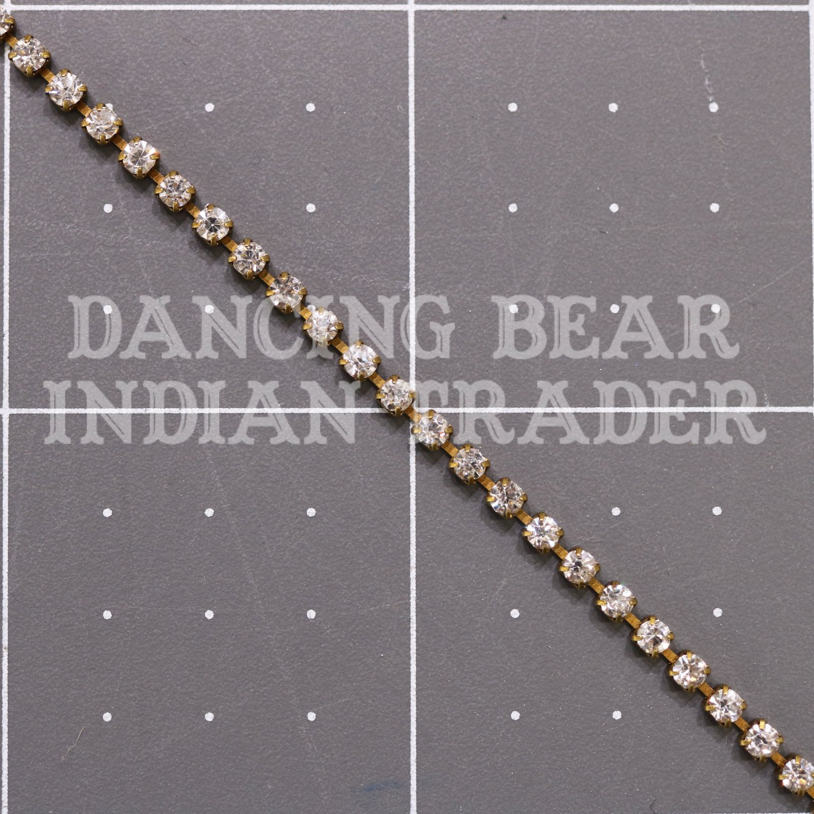 2mm Crystal Antique Brass Cup Chain per foot
